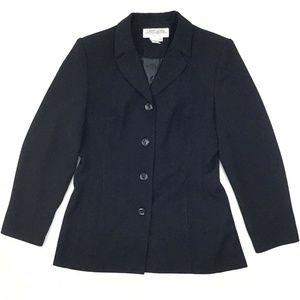 Larry Levine Suits 4-Button Blazer Jacket Women's